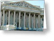 Us Capitol - Back Side Greeting Card