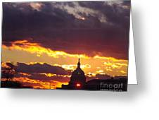 U.s. Capitol Dome At Sunset Greeting Card