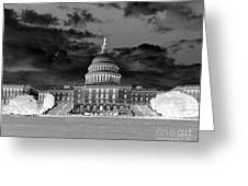 Us Capitol Washington Dc Negative Greeting Card