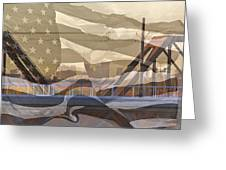 Us City Montage Greeting Card
