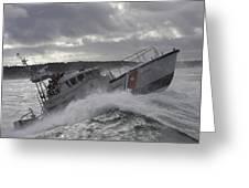 U.s. Coast Guard Motor Life Boat Brakes Greeting Card