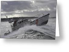 U.s. Coast Guard Motor Life Boat Brakes Greeting Card by Stocktrek Images