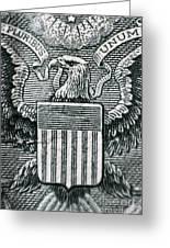 Us Dollar Eagle Greeting Card