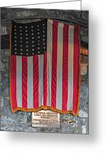 Us Flag At Whiteface Mountain Ny Greeting Card