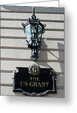 Us Grant Corner Plaque Greeting Card
