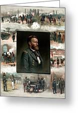 Us Grant's Career In Pictures Greeting Card
