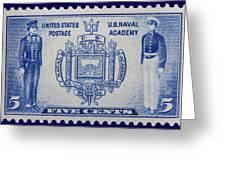Us Naval Academy Postage Stamp Greeting Card