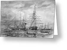 U.s. Naval Fleet During The Civil War Greeting Card