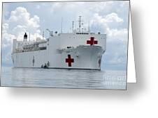 U.s. Naval Hospital Ship Usns Mercy Greeting Card