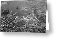 U.s. Naval Yard In Brooklyn Ny Photograph - 1932 Greeting Card