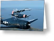 Us Navy Lagacy Flight  Greeting Card