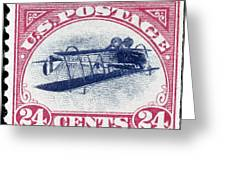 U.s. Postage Stamp, 1918 Greeting Card