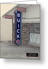 Us Route 66 Smaterjax Dwight Il Buick Signage Pa 04 Greeting Card