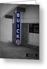 Us Route 66 Smaterjax Dwight Il Buick Signage Sc Greeting Card