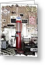 Us Route 66 Smaterjax Dwight Il Gas Pump 01 Pa 01 Greeting Card