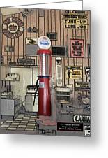 Us Route 66 Smaterjax Dwight Il Gas Pump 01 Pa 02 Greeting Card