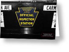 Us Route 66 Smaterjax Dwight Il Official Inspection Signage Greeting Card