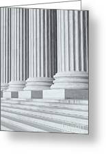 Us Supreme Court Building Iv Greeting Card by Clarence Holmes