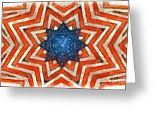 Usa Abstract Greeting Card
