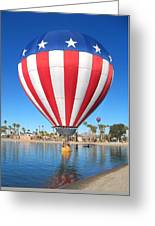 Usa Balloon Greeting Card