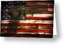 Usa Handgun Greeting Card