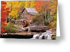 Usa, West Virginia, Glade Creek Grist Greeting Card