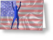 Usa Winner Background Greeting Card