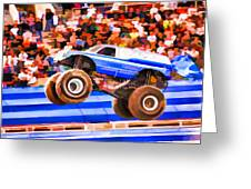 Usaf Afterburner Monster Jam Greeting Card