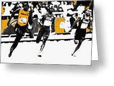Usain Bolt Bringing It Home Greeting Card