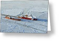 Uscg Healy Breaks Ice Greeting Card