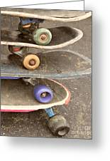 Used Skateboards Greeting Card