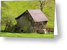 Used Virginia Barn Greeting Card