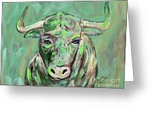 Usf Bull Greeting Card