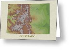 Usgs Map Of Colorado Greeting Card