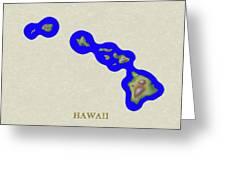 Usgs Map Of Hawaii Greeting Card