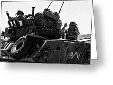Usmc On The Move In A Lav-25 Greeting Card