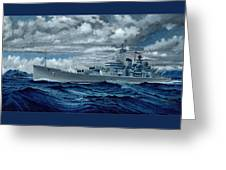 Uss Canberra Cag-2  Greeting Card