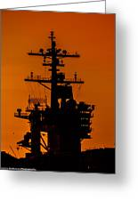 Uss Carl Vinson At Sunset 2 Greeting Card