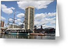 Uss Constellation - Baltimore Inner Harbor Greeting Card