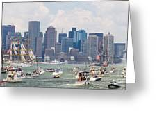 Uss Constitution Boston Cruise Greeting Card by Susan Cole Kelly
