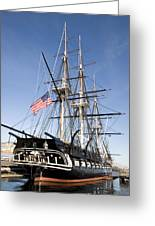 Uss Constitution Greeting Card by Tim Laman