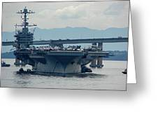 Uss George Washington Greeting Card