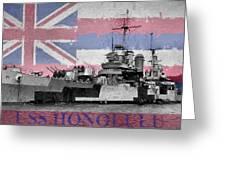 Uss Honolulu Greeting Card