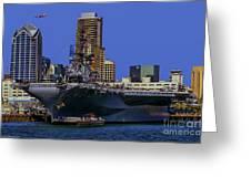 Uss Midway San Diego Ca Greeting Card
