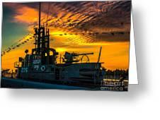 U.s.s. Silversides Sunset Greeting Card