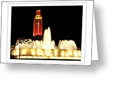 Ut Tower Poster Greeting Card
