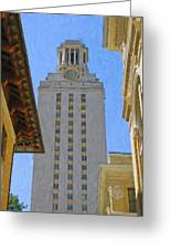 Ut University Of Texas Tower Austin Texas Greeting Card by Jeff Steed