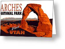 Utah, Arches, National Park Greeting Card