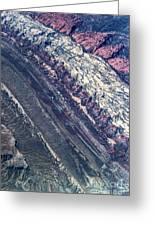 Utah Mountains High Altitiude Aerial Photo Greeting Card