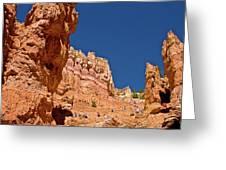 Utah Seventh Graders Climbing Switchbacks On Wall Street, Navajo Trail In Bryce National Park, Utah Greeting Card